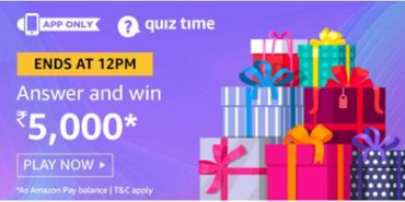 Win Rs. 5000 pay balance Amazon