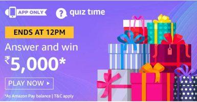 Win Rs. 5000 pay balance Amazon