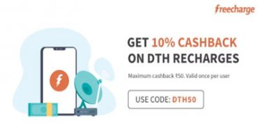 Freecharge DTH Recharge Offer